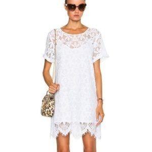 Frame shirt lace dress